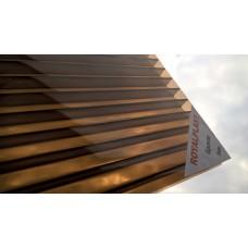 Поликарбонат 6 мм премиум класс бронза 20 лет двойная УФ