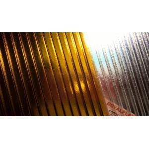 Поликарбонат 8 мм премиум класс янтарь Колотый лед