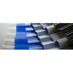 Профилированный поликарбонат синий лед