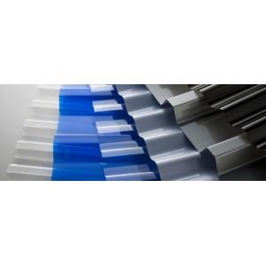 Профилированный поликарбонат синий колотый лед 0,9