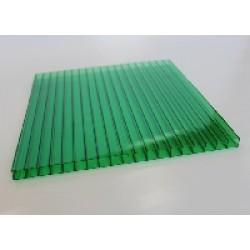 Сотовый поликарбонат 4 мм зелёный