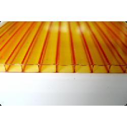 Сотовый поликарбонат 4 мм оранжевый