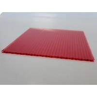 Сотовый поликарбонат 10 мм красный