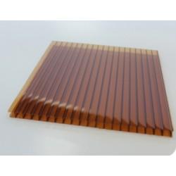 Сотовый поликарбонат 4 мм янтарь