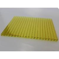 Сотовый поликарбонат 10 мм жёлтый