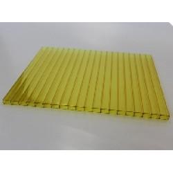 Сотовый поликарбонат 4 мм жёлтый
