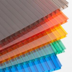 Сотовый поликарбонат 10 мм.  цветной