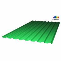 Профилированный поликарбонат зеленый лед 0,9 мм