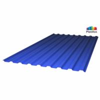 Профилированный поликарбонат синий лед 0,9 мм
