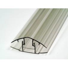 Профиль соединительный разъемный для поликарбоната 6-10 мм.