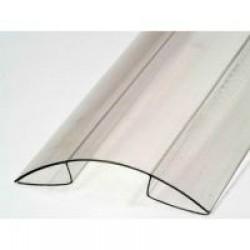 Профиль коньковый (конек) для поликарбоната толщиной 4-6 мм.