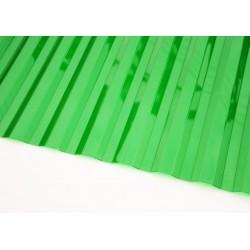 Профилированный поликарбонат зеленый лед