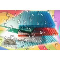 Сотовый поликарбонат 20 мм.  цветной
