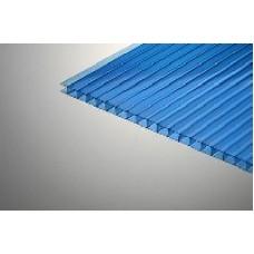 Синий сотовый поликарбонат 4,7 метра 8 мм