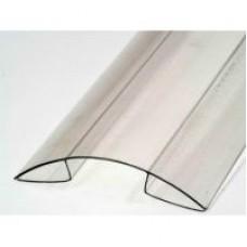 Профиль коньковый (конек) для поликарбоната толщиной 8-10 мм.