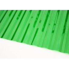 Профилированный поликарбонат зеленый колотый лед