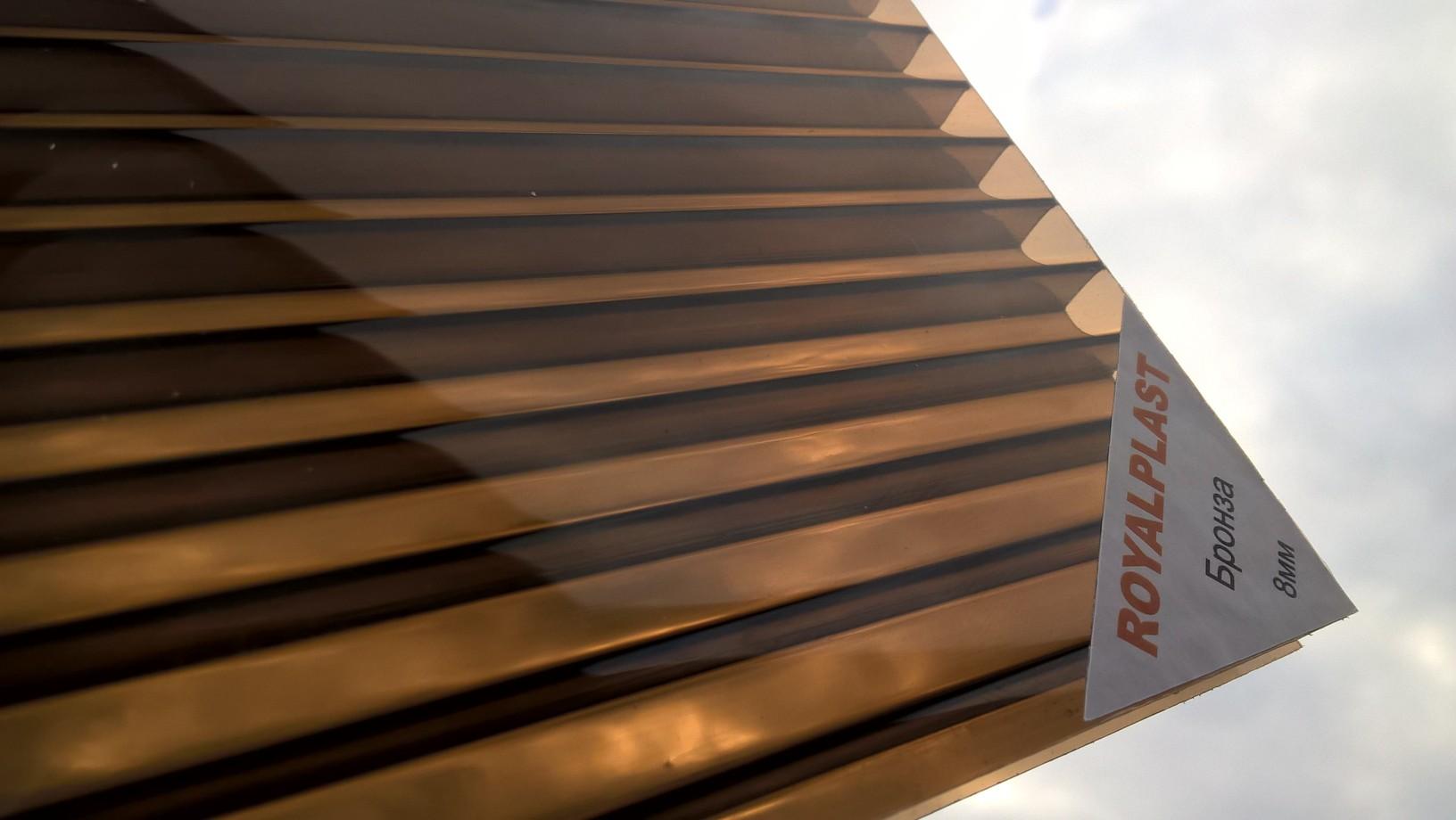 Поликарбонат 10 мм премиум класс бронза