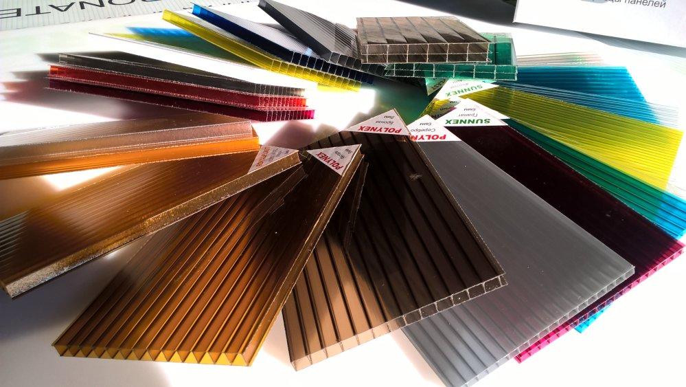 цвета и цены с размерами сотового поликарбоната